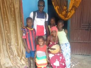 Chez Ousmane, avec Etienne et Coumba
