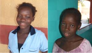 Séraphine et Monique, filleules de Christian